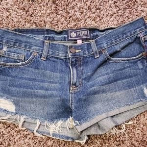 Victoria secret Pink Denim shorts size 8